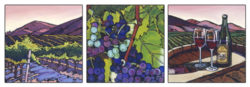 Central Coast Vineyard (Triptych)