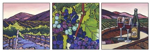 Central Coast Vineyard (Triptych)